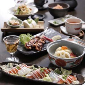 銀座の和食店で会席料理
